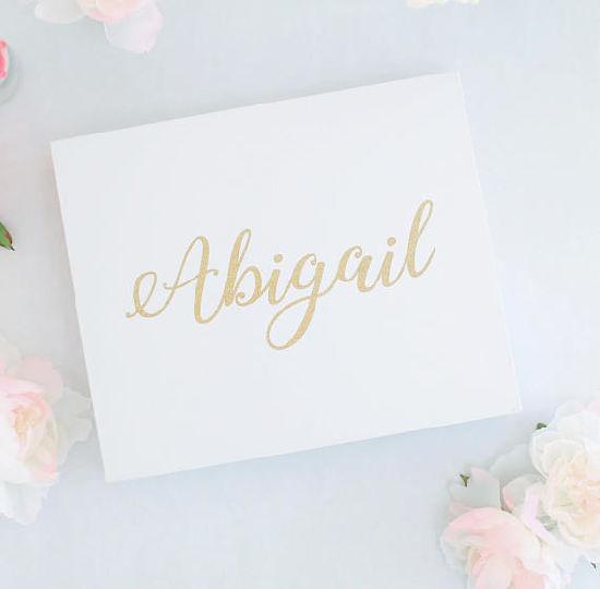 personalized gift box birthday present valentines day bridal shower wedding gift glitter gold baby shower party