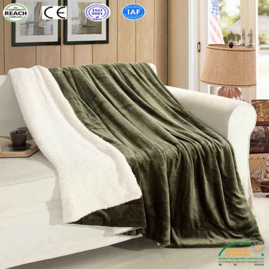 China Polyester Throw Covers Home Thick Blanket for Bed Sofa ...