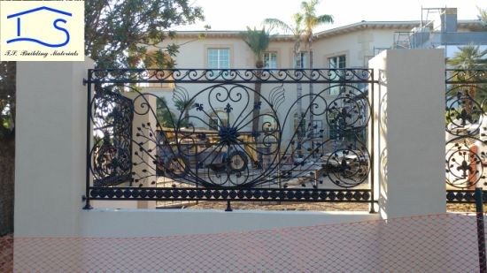 Wrought Iron Fence Garden Fence for Residential /Lawn/Park/Playground /Yard/Factory Fence pictures & photos