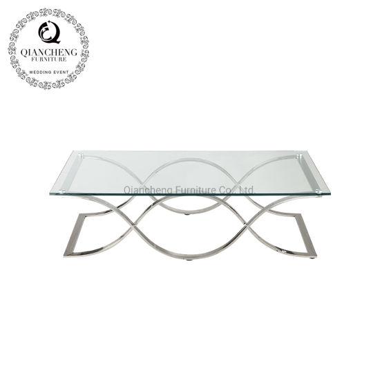 Rectangle Coffee Table Glass Interior Furniture New Design