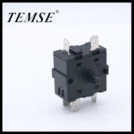 T125/55 Oven Timer Fan Speed 4position 16A 250VAC Rotary Switch