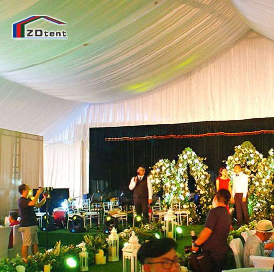 Wind Resistant White Wedding Party Tent Banquet Event Clear Span Tent Fabric pictures & photos