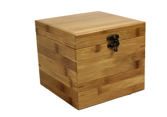 Square Craft Custom Packaging Wooden Box