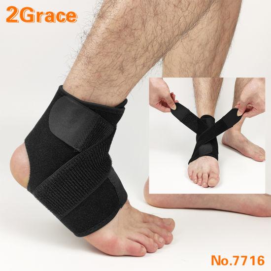 Neoprene Adjustable Breathable Compression Ankle Support Brace for Sports