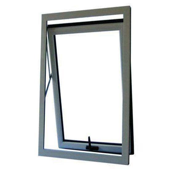 Aluminum Wood Grain/Custom Double Tempered Glass Hung Window