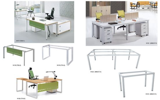 Square Metal Tube Silver Powder Coating Steel Office Table Workstation Leg pictures & photos