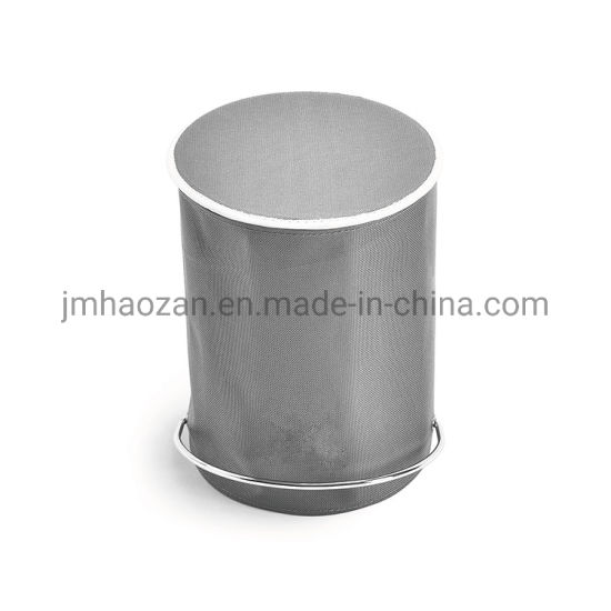 Stainless Steel Foot Pedal Trash Bin, Dustbin with Nylon Leather pictures & photos