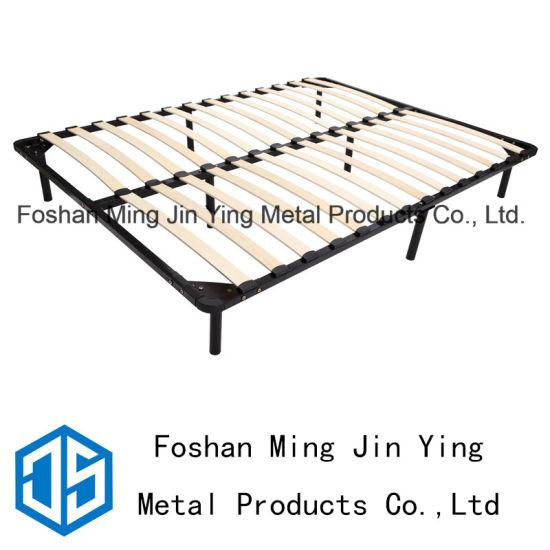 China Detachable Bed Frame Poplar Slats Used for Bedroom Furniture ...