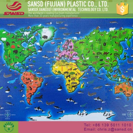 China Printing World Map Custom Floor EVA Foam Puzzle Mat - China ...