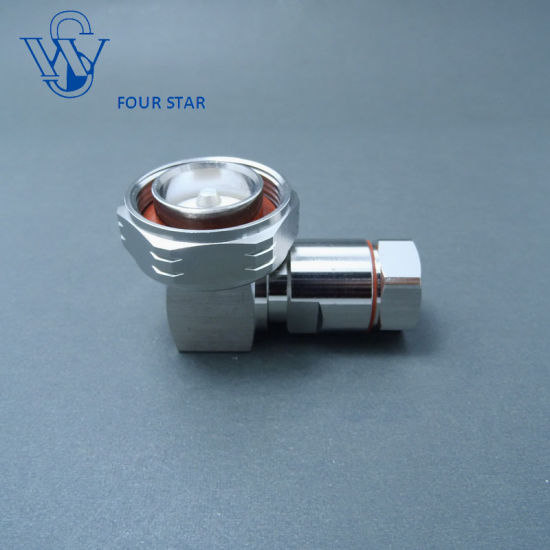 "7//16 Din Clamp Plug Male Right Angle connector for Corrugated 1//2/"" New"