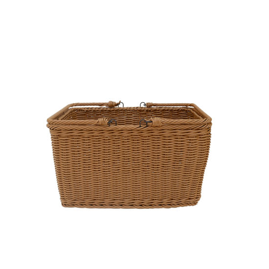 China Home Decoration Plastic Wicker Hand Weave Storage Hamper China Storage Basket And Laundry Basket Price