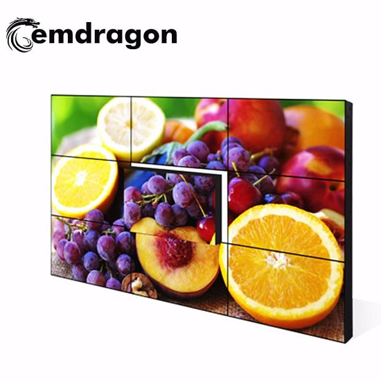 Download Advertising Player Ultra Thin Bezel LCD Video Wall 46 Inch DVD Player Remote Control Android Ad Player All in One PC LED Backlit Video Wall