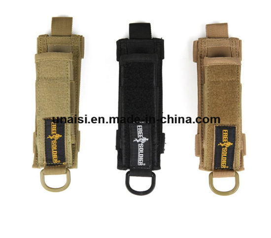 Custom Nylon Tactical Flashlight Hand Electric Torch Holder with Loop pictures & photos