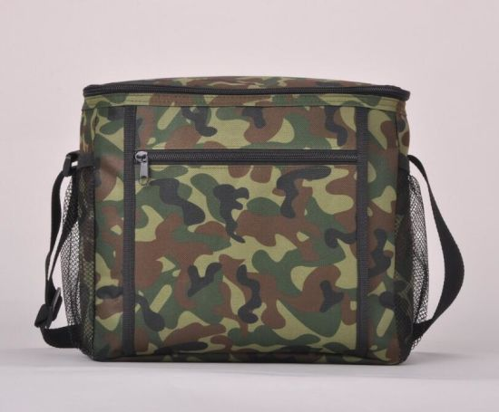 Insulated Lunch Bag With 2 Way Zipper Closures Heavy Duty Cooler For Phone Hard Bottom Picnic
