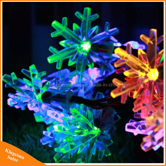 China colorful snowflake solar powered strings lights for outdoor colorful snowflake solar powered strings lights for outdoor holiday tree aloadofball Gallery