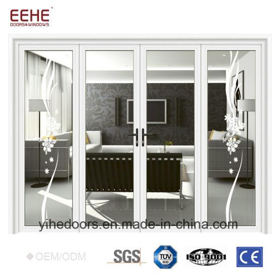 China Commercial Aluminum Glass Door Price Double Swing Door China