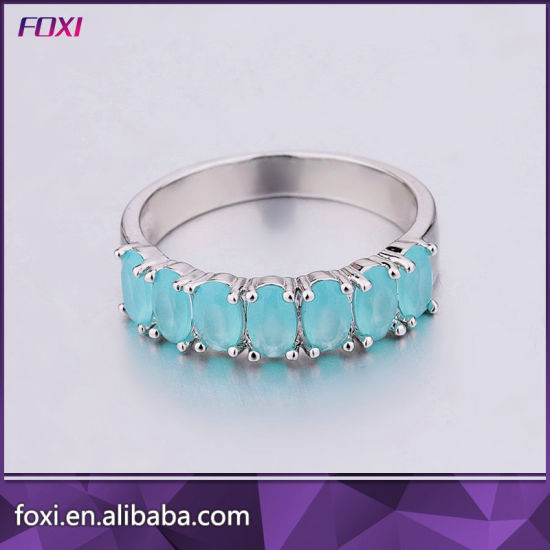 Big Flower Shape Design Fashion CZ Gold Plated Rings pictures & photos