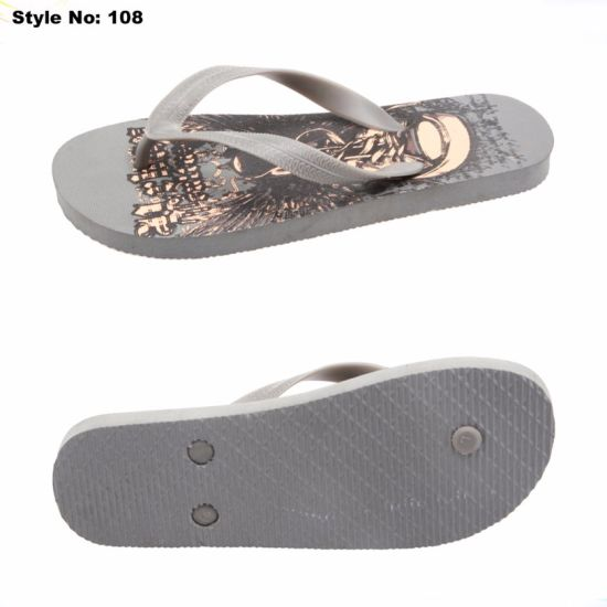 481c3dc9456 PE Sole PVC Strap Custom Flip Flops with colorful Printed Design Fashion  PVC Rubber Slipper