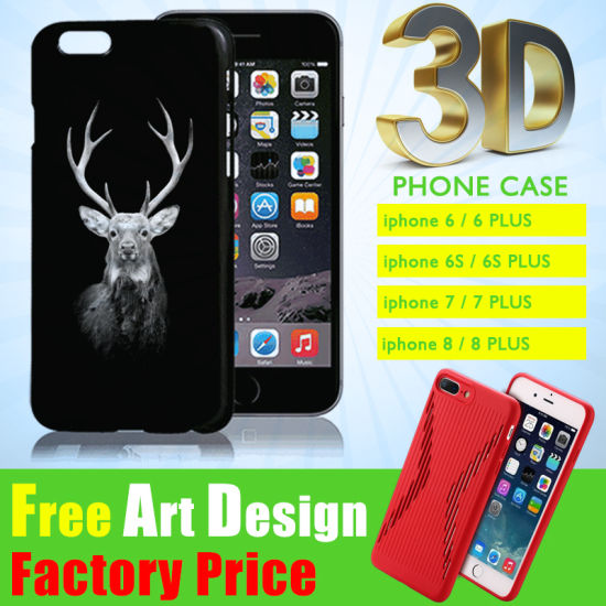 Manufacturer DIY Custom Personalized Logo Cute 3D Printing Cover Housing Accessories Sublimation Soft TPU/Silicone PC Cell Mobile Phone Case for iPhone 6/7 Plus