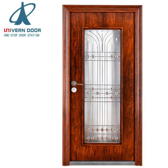 China High Quality Oval Glass Entry Door Stanley Segurity Doors