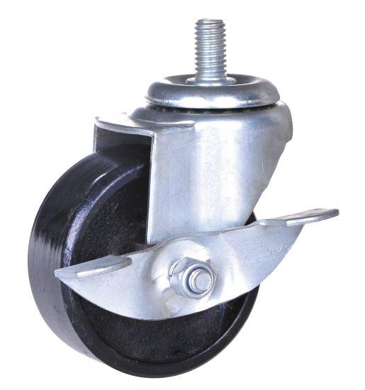3 Inch Iron Wheel Swivel Caster with Brake