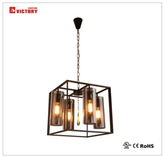Simple Glass Chandelier Decorative Hotel Project Pendant Lamp
