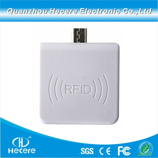 China 900MHz Smartphone UHF RFID Reader For Access Control