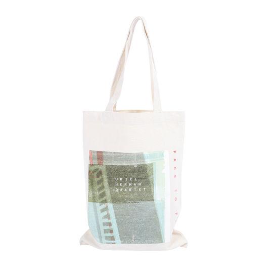 Custom Logo Full Color Printed Cotton Fabric Calico Tote Bag