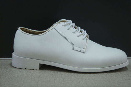 China Oxford Navy Shoes White Color Cow