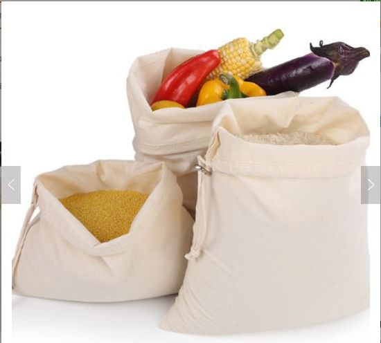 Reusable Durable Cotton Bag Grocery Bags for Vegetable & Storage