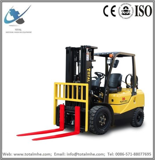 2.0 Ton Gasoline and LPG Forklift with Nissan K25 Engine
