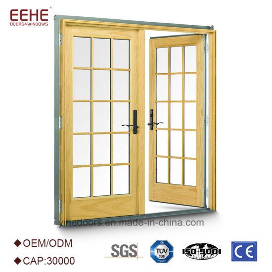 China Exterior Glass Louver Door Metal Swing Glass Door Design