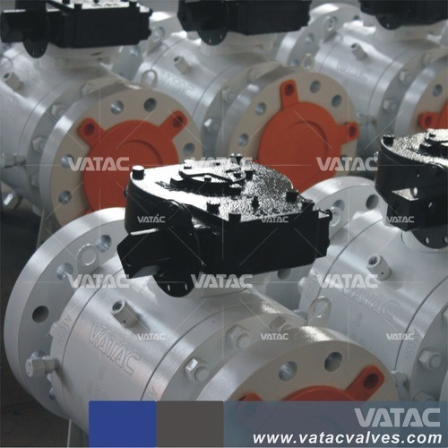 Cast & Forged Stainless Steel Industrial Mounted Trunnion Ball Valve with Flange RF or Bw Ends pictures & photos