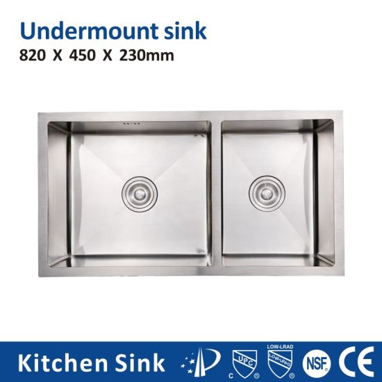 North America R15 2 3mm 78*43cm Square Inset Cabinet 1 2 3 Basin 316 Stainless Steel Restaurant Sink for House Project Handcraft Bright Kitchen Sink