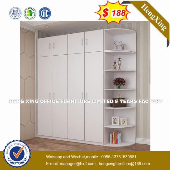 Chinese Bedroom Furniture Modern Cheap High Gloss Metal Wardrobe (HX-8NR0773) pictures & photos