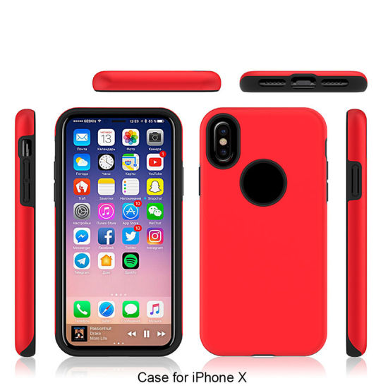 Best Quality Anti-Droptpu+PC Phone Cover Case for iPhone X pictures & photos