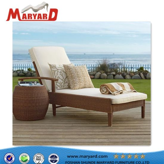French Chaise Lounge Comfortable Fabric Upholstered Daybed Outdoor Sunbed  Daybed