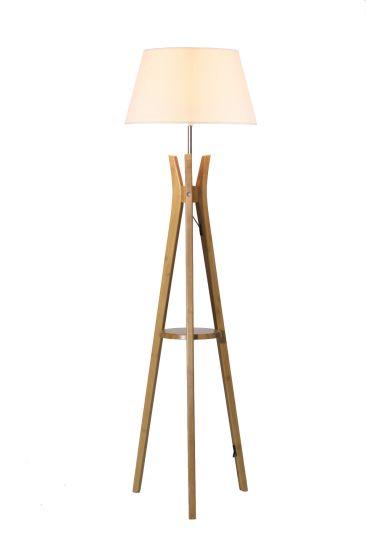 Large Tripod Floor Lampwith White Linen Shade Lighting/Light/Lamp/LED/Furniture/Decoration