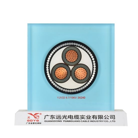 Copper/Copper Conductor, XLPE/PVC Insulated Power Cable with Swa Sta Armored, Electric Cable.