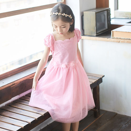 2f23cda7c2671 China Children′s Wear Dress Lace Embroidery Little Girl Princess ...