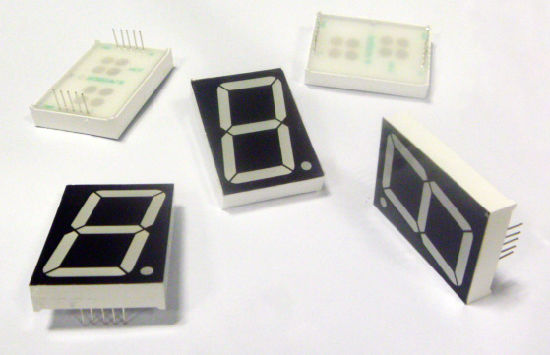White Color 3 Inch LED 7 Segment Display pictures & photos