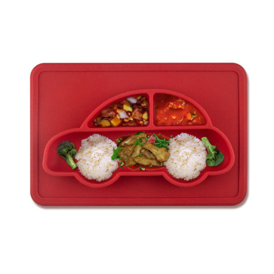 Certificated Non-Slipbaby Cartoon Silicone Car Placemat Plate pictures & photos