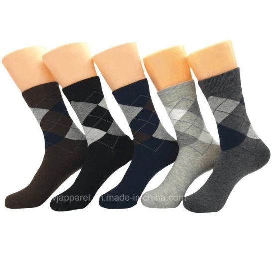 fbc73298b7 fashion Rhombus Men Cotton Dress Socks Autumn Crew Socks Stock Wholesale.  Get Latest Price