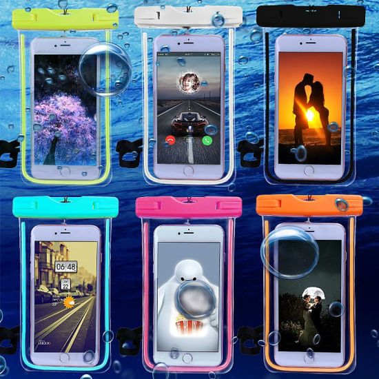 Universal Cover Waterproof Phone Bag Swimming Waterproof Phone Case pictures & photos