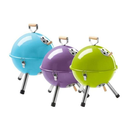 Portable BBQ Charcoal Grill for Outdoor Ball BBQ Grill with Different Colours pictures & photos