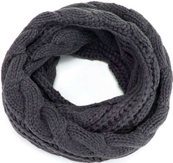 Promotional Pashmina Winter Warm Comfortable Thick Ribbed Knit Circle Loop Snood Scarf