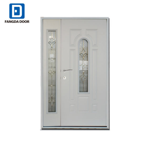 China Mother And Son Commercial Steel Glass Double Entry Door