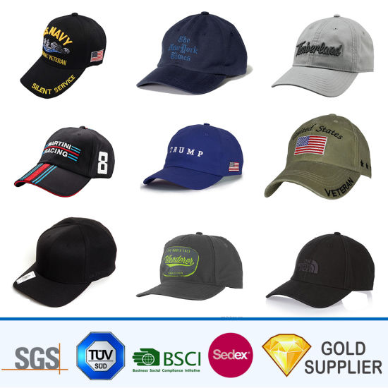 d120f4caed4619 Wholesale Promotional Custom Blank Polyester Fabric Logo Embroidered Adult  Sport Golf Hats Plain Distressed 6 Panel