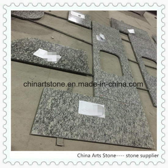 Chinese White, Gold, Black Granite Kitchen Countertop for Building Project