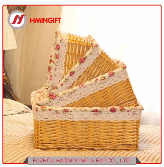Wicker Gift Hamper Storage Basket with Cloth Lining pictures & photos